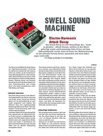 Gitarre & Bass Electro Harmonix Attack Decay Tape Reverse Sim.