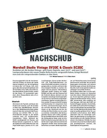 Gitarre & Bass Marshall MKII Studio Vintage SV20C & Classic SC20C, Röhren-Combos
