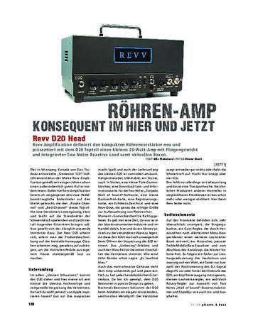 Gitarre & Bass Revv D20 Amp Head