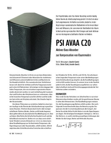 Sound & Recording PSI Audio AVAA C20