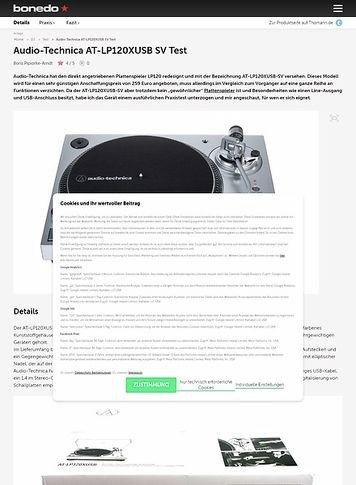 Bonedo.de Audio-Technica AT-LP120XUSB SV