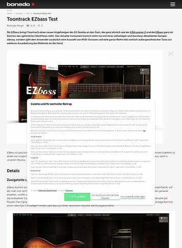 Bonedo.de Toontrack EZbass