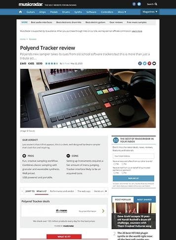 MusicRadar.com Polyend Tracker