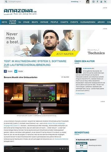 Amazona.de IK Multimedia ARC System 3
