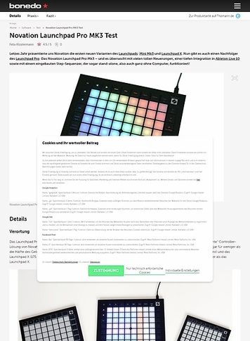 Bonedo.de Novation Launchpad Pro MK3