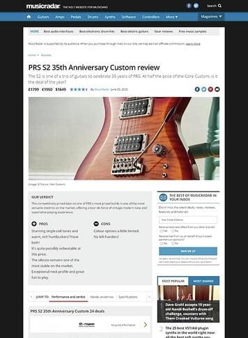 MusicRadar.com PRS S2 Custom 24 35th Anniversary