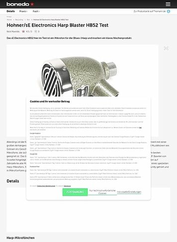 Bonedo.de sE Electronics Harp Blaster HB52