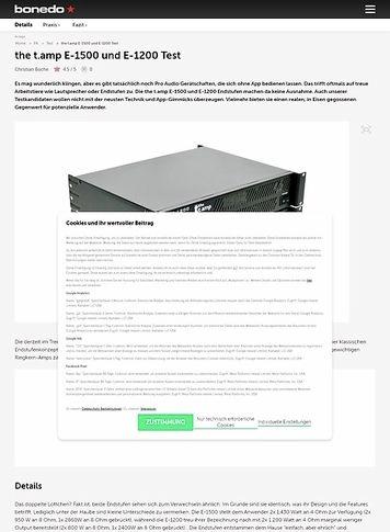 Bonedo.de the t.amp E-1500 und E-1200