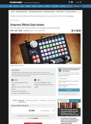MusicRadar.com Empress Effects Zoia