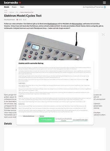 Bonedo.de Elektron Model:Cycles