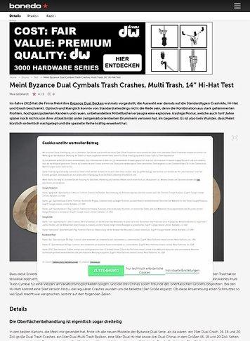 Bonedo.de Meinl Byzance Dual Cymbals Neuheiten 2020