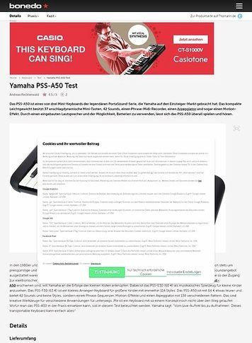 Bonedo.de Yamaha PSS-A50