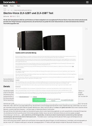 Bonedo.de Electro-Voice ZLX-12BT und ZLX-15BT
