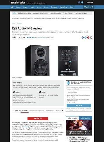 MusicRadar.com Kali Audio IN-8