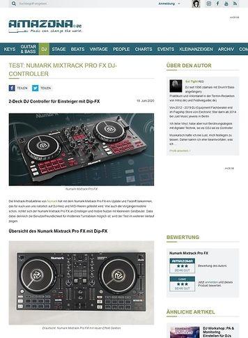 Amazona.de Numark Mixtrack Pro FX DJ-Controller