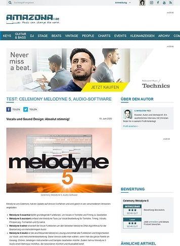 Amazona.de Celemony Melodyne 5