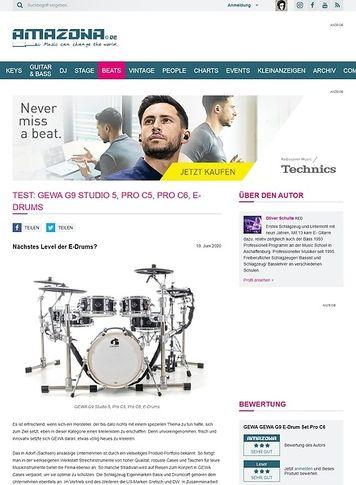 Amazona.de GEWA G9 Studio 5, Pro C5, Pro C6, E-Drums