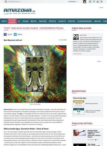 Amazona.de Walrus Audio Ages