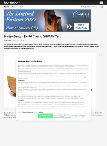Bonedo.de Harley Benton EX-76 Classic GHW AN