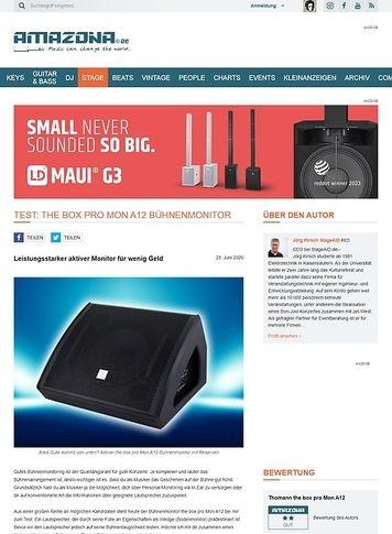 Amazona.de the box pro Mon A12 Bühnenmonitor