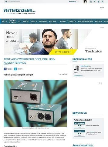Amazona.de Audiowerkzeug CoDI, DiGI