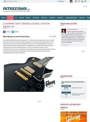 Amazona.de Gibson Les Paul Custom Ebony GH