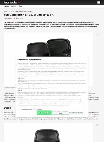 Bonedo.de Fun Generation BP 112 A und BP 115 A
