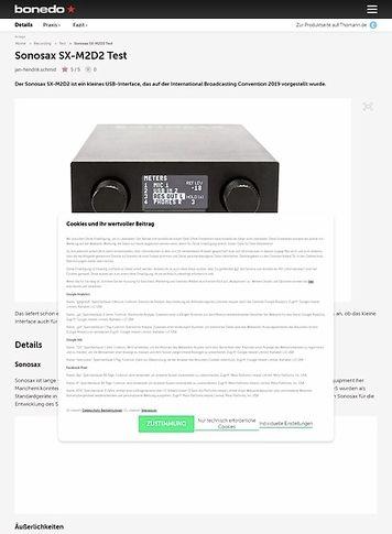 Bonedo.de Sonosax SX-M2D2