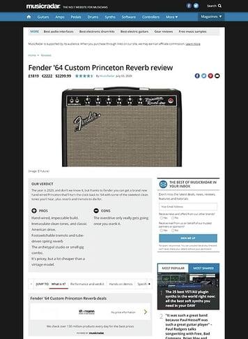 MusicRadar.com Fender 64 Custom Princeton Reverb