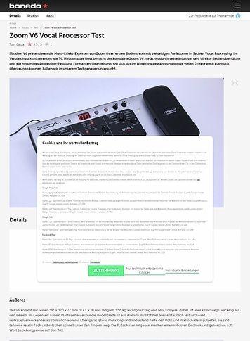 Bonedo.de Zoom V6