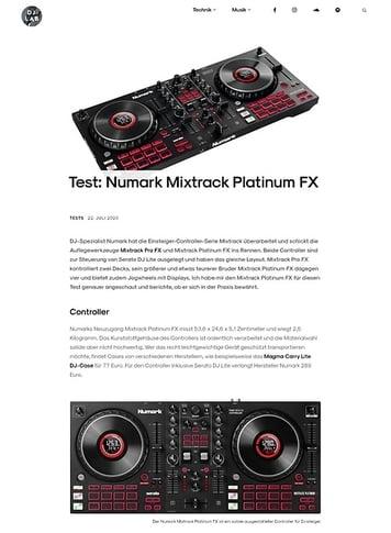 DJLAB Numark Mixtrack Platinum FX