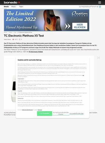Bonedo.de TC Electronic Plethora X5