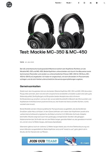 DJLAB Mackie MC-350 & MC-450