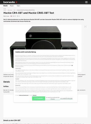 Bonedo.de Mackie CR4-XBT und Mackie CR8S-XBT
