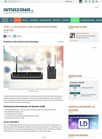 Amazona.de LD Systems U308 In-Ear Monitoring System