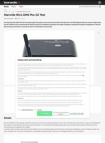 Bonedo.de Stairville WLS-DMX Pro G5