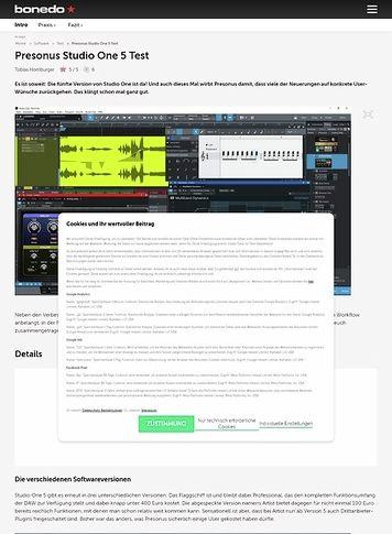 Bonedo.de Presonus Studio One 5