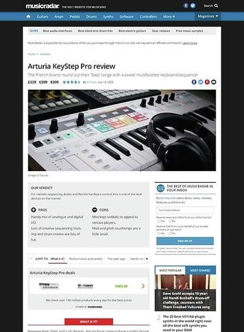 MusicRadar.com Arturia KeyStep Pro