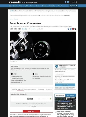 MusicRadar.com Soundbrenner Core