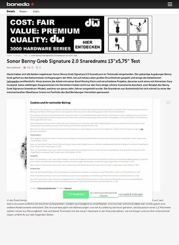 Bonedo.de Sonor Benny Greb Signature 2.0 Snaredrums 13