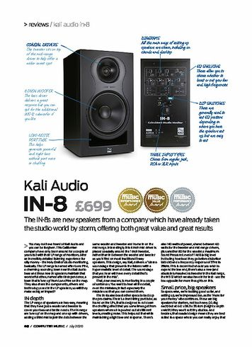 Computer Music Kali Audio IN-8