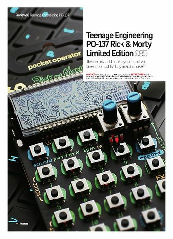 Future Music PO-137 Rick & Morty Limited Edition