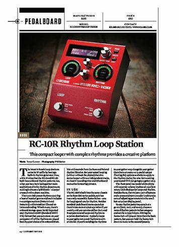 Guitarist BOSS RC-10R Rhythm Loop Station