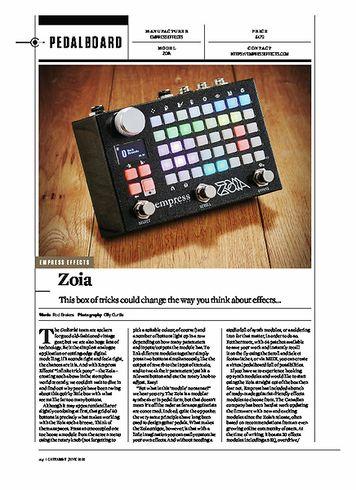 Guitarist EMPRESS EFFECTS Zoia