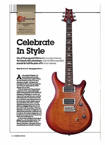 Guitarist PRS S2 35TH ANNIVERSARY CUSTOM 24