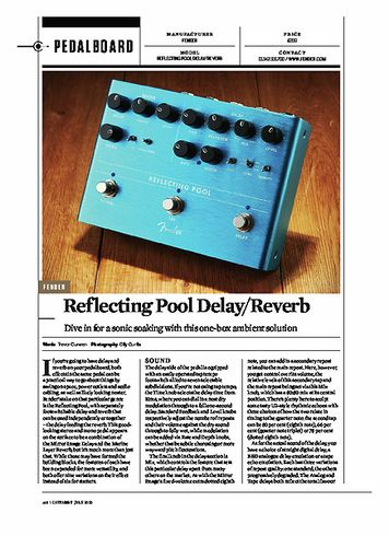 Guitarist FENDER Reflecting Pool Delay/Reverb