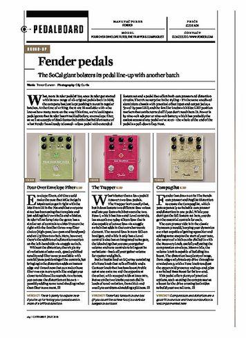 Guitarist FENDER Pour Over Envelope Filter