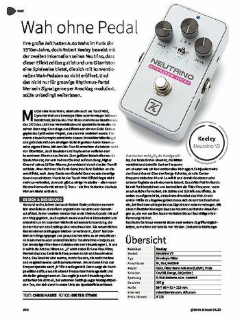 Gitarre & Bass Keeley Neutrino V2 Envelope Filter