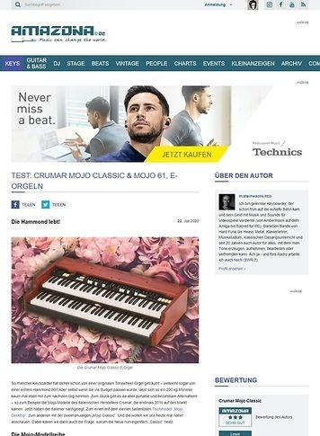 Amazona.de Crumar Mojo Classic, Mojo Desktop & Mojo 61