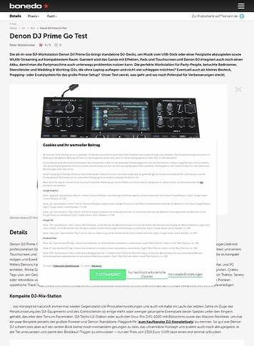 Bonedo.de Denon DJ Prime Go
